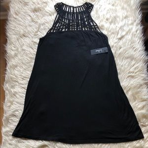 Lulu's NWT black dress with strappy pattern